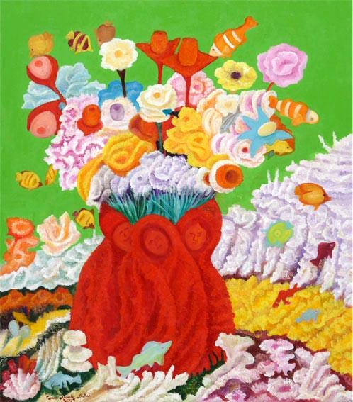 2009 - I fiori del Pianeta degli Oceani Marini_ 70x80