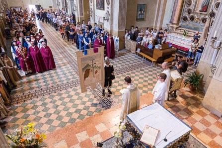 rievocazione storica. santa messa