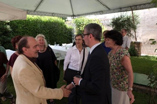 ARRIVO DEL SINDACO MATTIA PALAZZI AL CONVEGNO DEL 2015