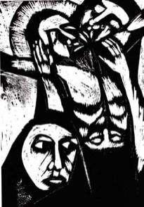 Deposizione - 1962 - xilografia