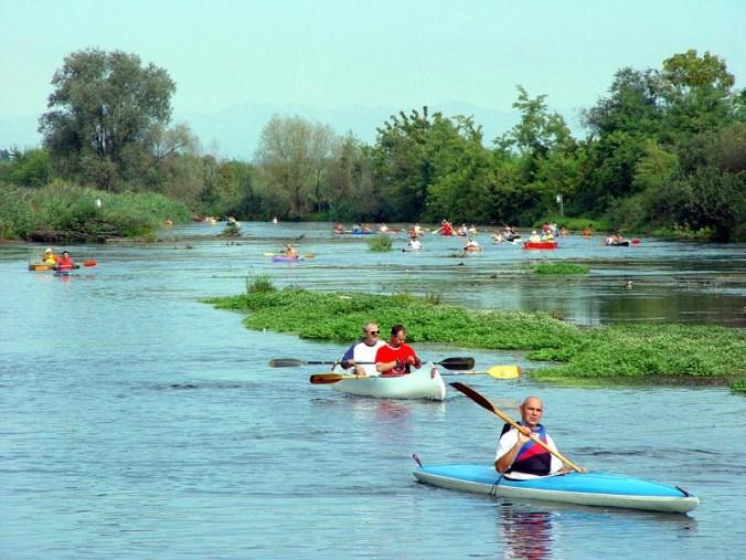 discesa in canoa - foto parco del Mincio