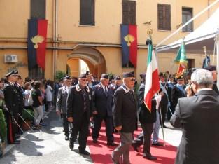 Gli esponenti dell'associazione dei carabinieri d'Italia