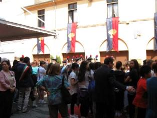 Gli studenti del Comprensivo di Porto Mantovano alla cerimonia dei Carabinieri