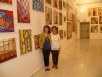 L'artista Somensa con un amica mantovana