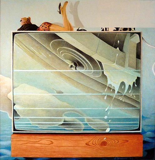PAGGIARO - 1992, Naufragio, olio su cartone telato, 31x30