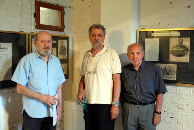da six - prof. Luciano Cigognetti, ing. Alberto Riccadonna e lo storico postale Sergio Leali