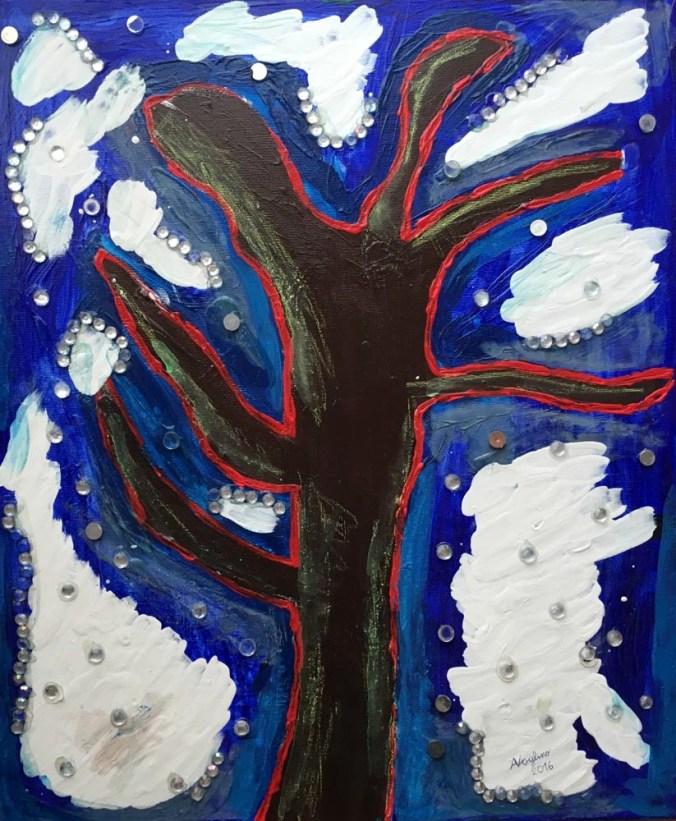 Alice Voglino Inverno tecnica mista su tela cm60x50x2,5 2016.jpg