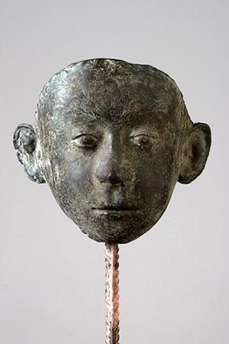 maschera-di-bambino-bronzo