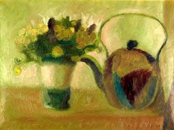 vaso-di-fiori-con-brocca-1960-olio-su-carta-oleata-cm-28x38-400