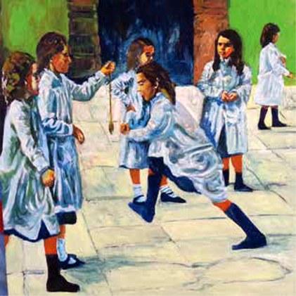primo-giorno-di-scuola-2015-olio-cm-100-x-100