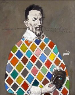 PILON VALERIO - Ritratto di Tristano Martinelli, 2017, olio su tavola, 50x40