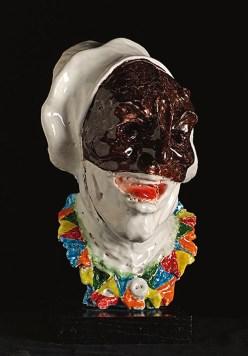 PREVITALI CARLO - Parola di Arlecchino, 2017, ceramica policroma, 34x24x20