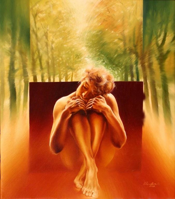 In attesa che passi_45x40-oil on canvas-2014.jpg