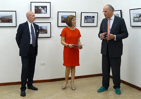 Galleria Sartori, 2015 - da sinistra Italo Scaietta, Arianna Sartori e Stefano Benazzo
