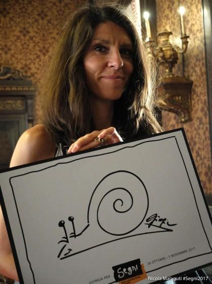 Cristina Cazzola con la chiocciola