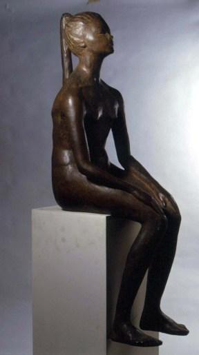 Enzo Nenci (1903-1972), Adolescente, 1953, bronzo