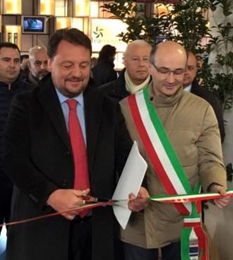 Gianni Fava con il sindaco di Gonzaga ClaudioTerzi