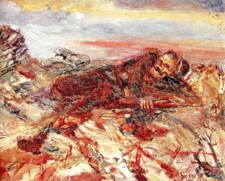 Antonio Ruggero Giorgi (1887-1983) Milite ignoto, 1917 (olio su tela, cm. 20 x 25)