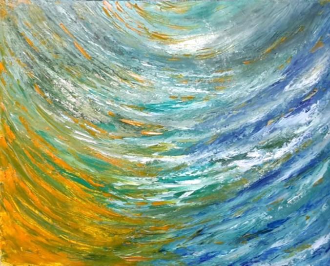 Maristella Laricchia - Il fiume del tempo dim. 50x40 cm