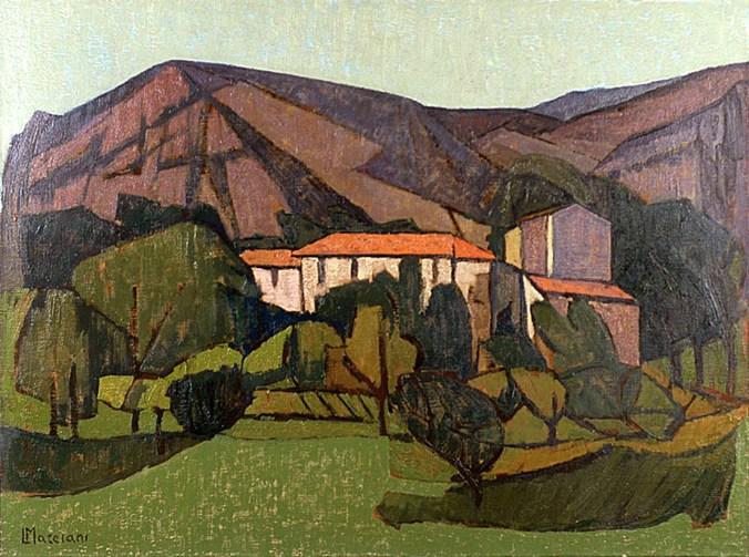 MARCIANI LEOPOLDO - Case in collina, 1967, olio su tela, cm 80x107.jpg