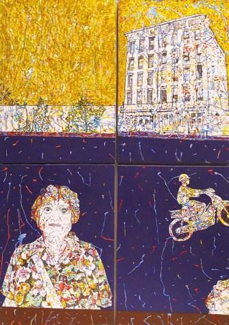 MOLINARI MAURO - Untitled, 2008, 2008, acrilico su carta e legno, cm 85x60