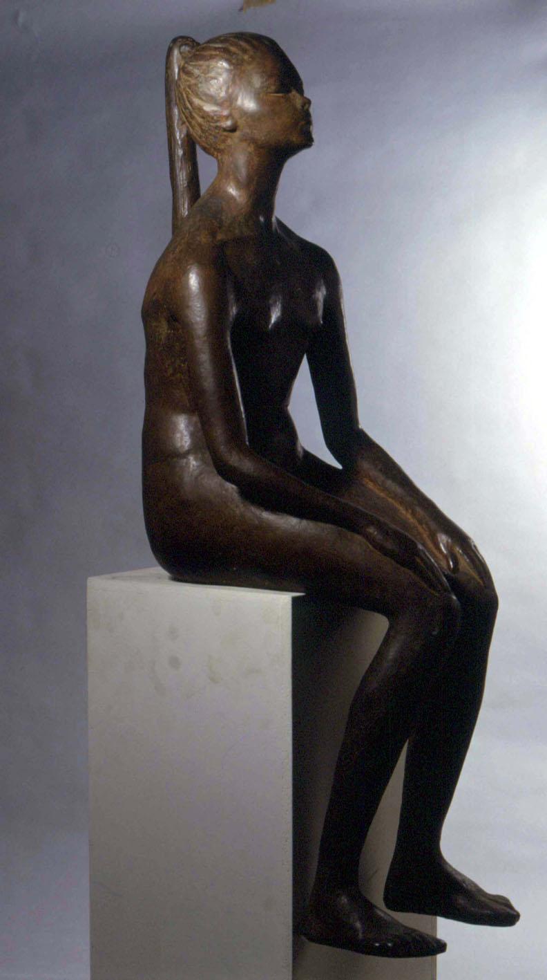 Enzo Nenci (1903-1972)Adolescente, 1953, bronzo, cm 107x32x44