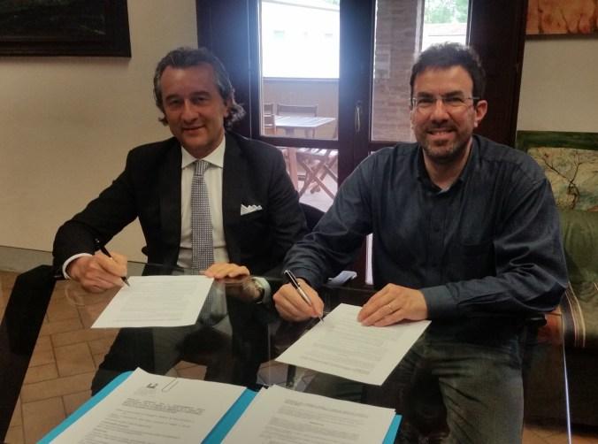 Maurizio Pellizzer, presidente del Parco del Mincio e il sindaco  Valerio Primavori