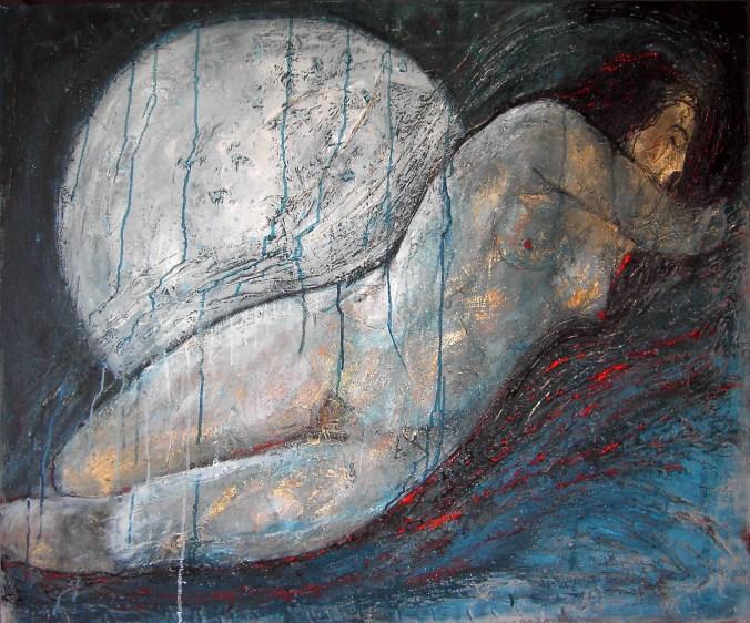 Teresa Noto, Iside Svelata 2018,cm 100 x 120 tecnica mista su tela.JPG