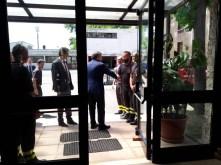 arrivo del prefetto Lombardi alla caserma del VVFF