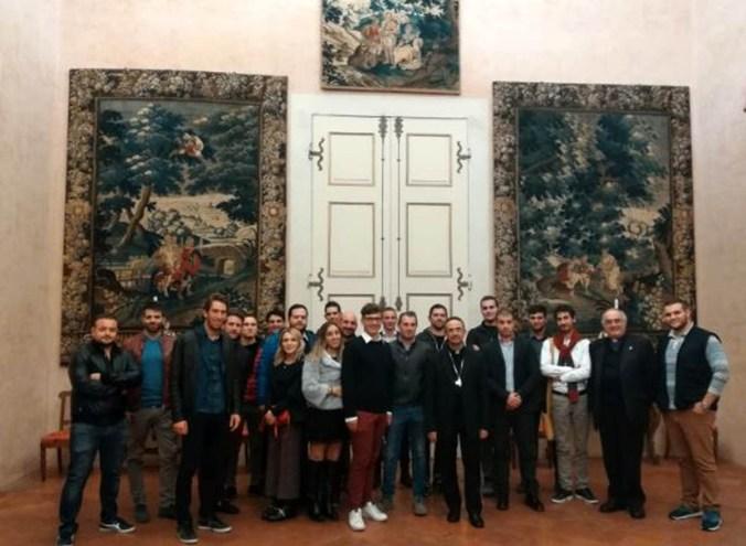 Giovani di Coldiretti Mantova a cena dal vescovo Busca.JPG