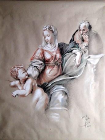 madonna della quercia riproduzione di Victor Adolfo Boni