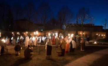 presepe vivente san biagio - villaggio di notte (foto Marcello)
