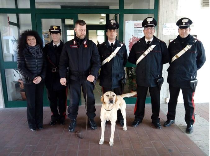 carabinieri cani antidroga nelle scuole