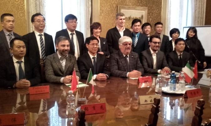 Delegazione cinese in Provincia