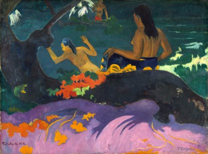 Paul Gauguin (French, 1848 - 1903), Fatata te Miti (By the Sea), 1892, oil on canvas, Chester Dale Collection 1963.10.149