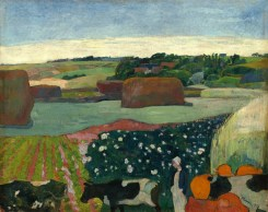 Paul Gauguin (French, 1848 - 1903), Haystacks in Brittany, 1890, oil on canvas, Gift of the W. Averell Harriman Foundation in memory of Marie N. Harriman 1972.9.11