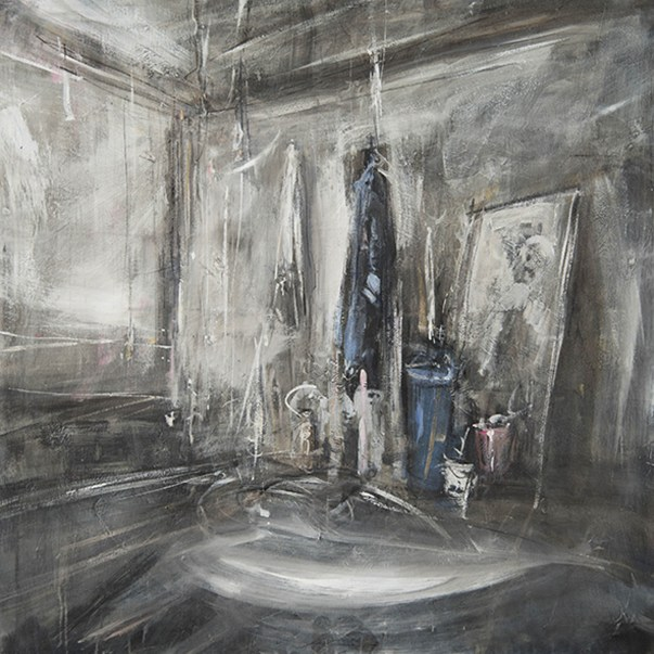 Lo studio, 2018, olio su tela, cm 100x10.jpg