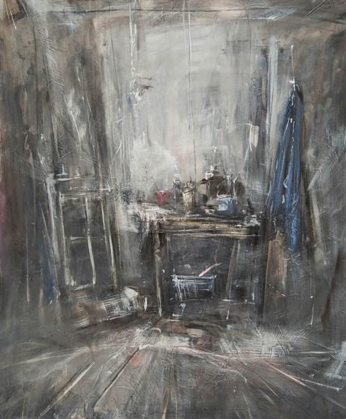 Lo studio, olio su tela, 100x120.jpg