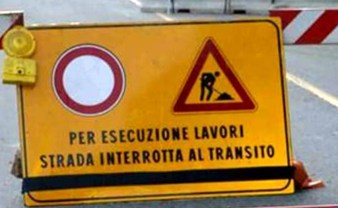 strada chiusa per lavori