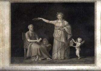 MARCHETTI DOMENICO 5 -SOFOCLE - MELPOMENE Canova inv Dom. Marchetti inc. 1811-12 mm 305x375 Roma Calcografia Camerale