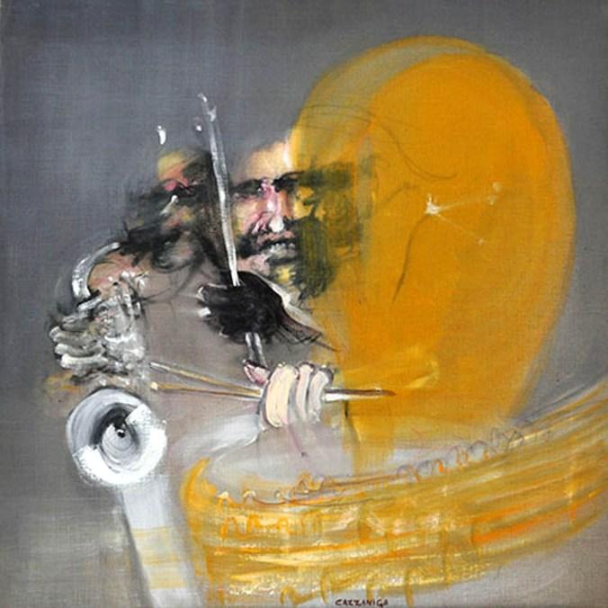 CAZZANIGA - Jazz man, 2002, olio su tela, cm 100x100.jpg