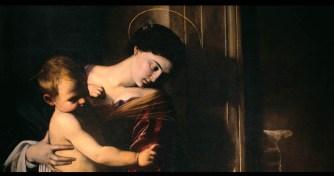 Dettaglio della Madonna dei Pellegrini in mostra