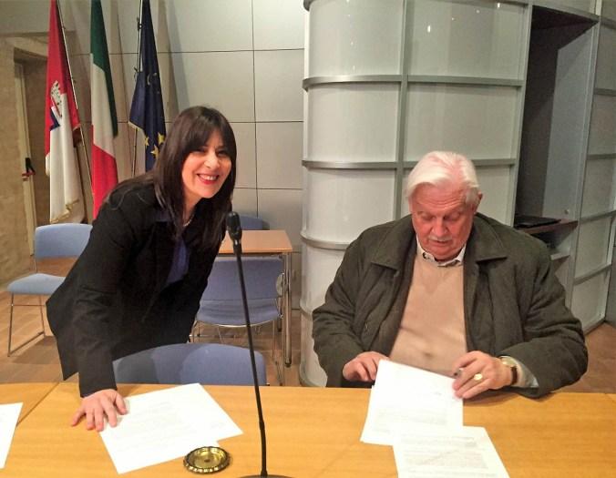 Faten Michel - Conte Zanardi Landi - Firma Accordo Michel Tours