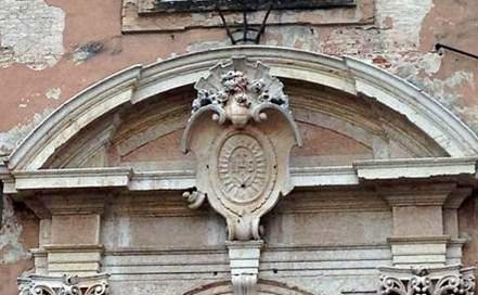liceo virgilio mantova dettaglio dello stemma gesuitico