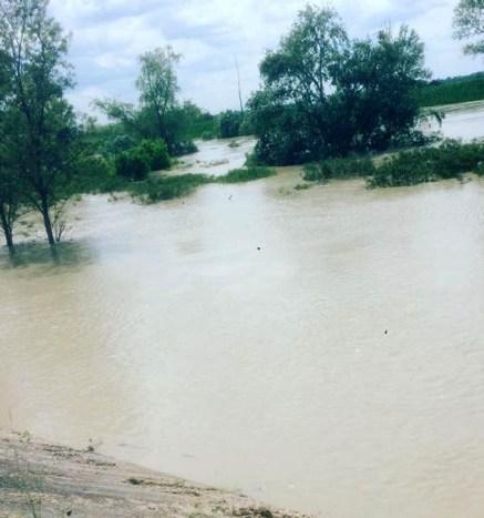 fiume secchia in piena