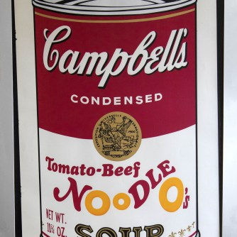 Andy Warhol Soup tomato beef h.88x59 n.148.250