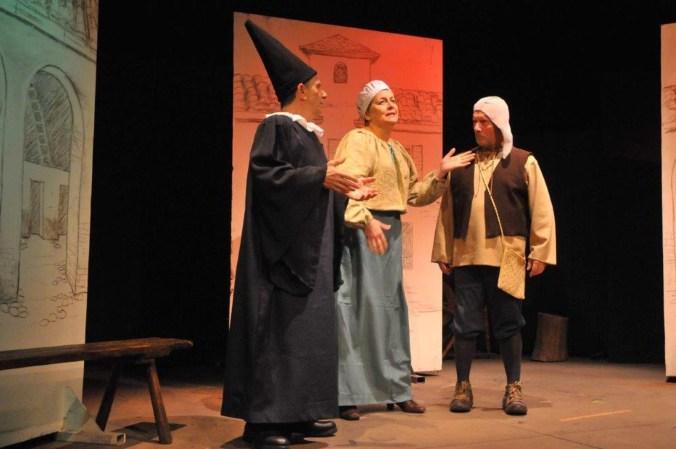 Teatro Minimo - Il medico per forza - 61 - da sin. Sergio De Marchi, Isa Bonfà, Sandro Boninsegna