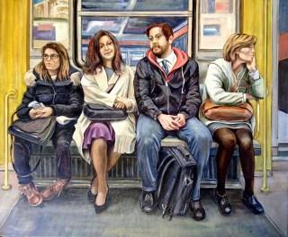"""""""Fermata del Metro"""",9olio su tela 50x60,2018"""