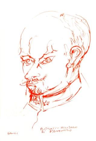 Piero Gauli - ritratto militare di Gabriele d'Annunzio