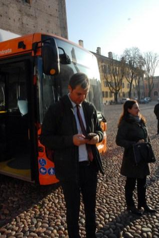 L'assessore comunale al trasporto sostenibile, Jacopo Rebecchi